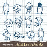 Set of hand drawn freaks Royalty Free Stock Photography