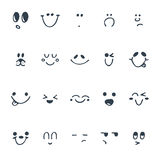 Set of hand drawn funny faces. Happy faces Royalty Free Stock Photography