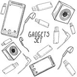 Set of hand drawn gadget icons Royalty Free Stock Image