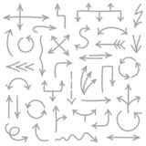 Set Of Hand Drawn Graphic Gray Arrows vector illustration