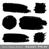 Set of Hand Drawn Grunge backgrounds. Royalty Free Stock Images