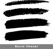 Set of Hand Drawn Grunge Brush Smears. Vector illustration royalty free illustration