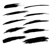 Set of Hand Drawn Grunge Brush Smears Royalty Free Stock Photo