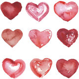 Set of hand drawn hearts Royalty Free Stock Photos