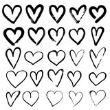 Set of Hand Drawn Hearts. Stock Images