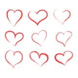 Set of hand drawn hearts. Vector illustration. EPS 10 vector illustration