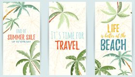 Hand drawn holiday travel card Royalty Free Stock Photo
