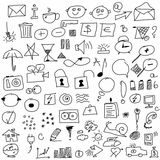 set hand drawn icon Stock Photos