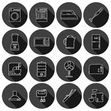 Set of hand drawn icons on home appliance theme Stock Image