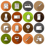 Set of hand drawn icons on home appliance theme Stock Photo