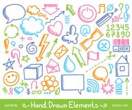 Hand drawn icons Royalty Free Stock Photo