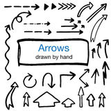 Set of hand drawn isolated arrows Royalty Free Stock Images