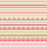 Set of hand drawn lace paper punch borders Stock Photography