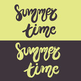 Set of hand drawn lettering - Summer time Royalty Free Stock Photography