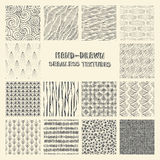 Set of hand drawn marker and ink seamless patterns. Stock Image