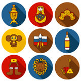 Set of hand drawn objects on Russia theme Royalty Free Stock Image