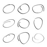 Set hand drawn ovals Royalty Free Stock Images