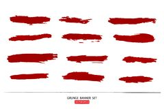 Hand drawn painted scratched  Illustrations template of Grunge Halloween background with blood splats banners abstrac Royalty Free Stock Images