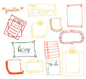 Set of hand drawn paper Royalty Free Stock Image