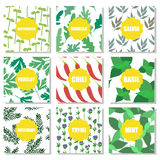 Set of hand drawn patterns Royalty Free Stock Images