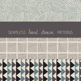 Set of hand drawn patterns Stock Photos
