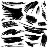 Set of hand-drawn pencil strokes Royalty Free Stock Image