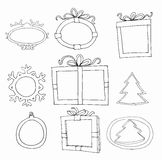 Set of hand drawn picture frames Stock Photography