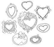 Set of hand drawn picture frames Stock Image