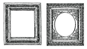 Set of hand drawn picture frames. Stock Photo