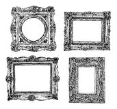 Set of hand drawn picture frames. Vector icons Royalty Free Stock Image