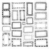 Set of hand drawn picture frames Royalty Free Stock Image