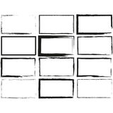 Set hand drawn rectangle, felt-tip pen objects. Text box and frames Royalty Free Stock Image