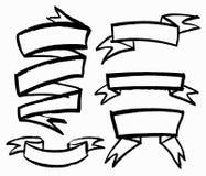 Set of hand-drawn ribbons Royalty Free Stock Image