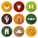 Set of hand drawn rodeo icons Stock Photography