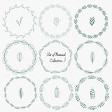 Set Of Hand Drawn Round Frames For Decoration. Royalty Free Stock Photos