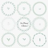 Set Of Hand Drawn Round Frames For Decoration. vector illustration