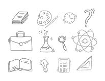 Set of Hand Drawn School icons. Stock Photography