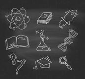 Set of Hand Drawn Science icons Royalty Free Stock Photography