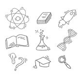 Set of Hand Drawn Science icons Stock Images