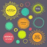 Set of hand-drawn scribble circles and decorative frames for you. Illustration Royalty Free Stock Photography