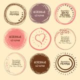 Set of hand drawn scribble circles and decorative frames for your design. Illustration Royalty Free Stock Photography