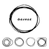 Set of Hand Drawn Scribble Circles Royalty Free Stock Images