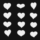 Set of hand drawn sketch hearts. Vector grunge style icons collection. Illustration the on the white background. Set of hand drawn sketch hearts. Vector grunge Royalty Free Stock Photography