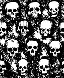 Set of hand drawn skulls Royalty Free Stock Photography