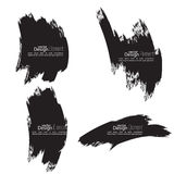Set of hand drawn smears Stock Photography