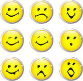 Buttons smiley hs Royalty Free Stock Image