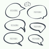 Set hand drawn speech bubble Royalty Free Stock Images