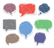 Set of hand drawn speech bubbles Royalty Free Stock Images
