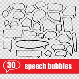 set hand drawn speech bubbles Royalty Free Stock Images