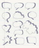 Set of hand drawn speech bubbles vector Stock Images